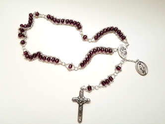 Purple St. Joseph Ladder Rosary