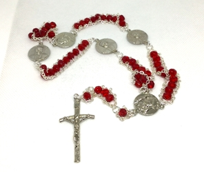 Red St. John Paul II Ladder Rosary
