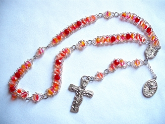 The Holy Spirit Variegated Ladder Rosary