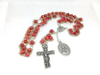 The Holy Spirit Ladder Rosary custom, ladder rosary, build your own, rosary, glass, semi-precious stone, holy spirit, blessed virgin, Our Lady, Trinity, confirmation