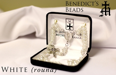 White Benedictine Ladder Rosary