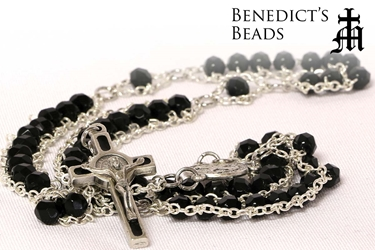 Black Benedictine Ladder Rosary